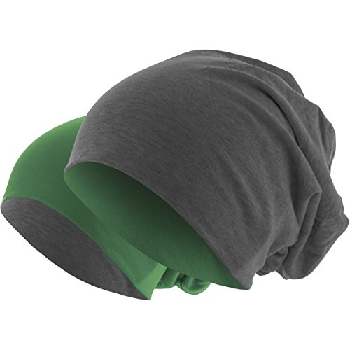 Gorro 2 en en invierno Largo 1 Colores Gorro Reversible Slouch dunkelgrau Gorro de de dunkelgrün 48 punto q4Ydxw