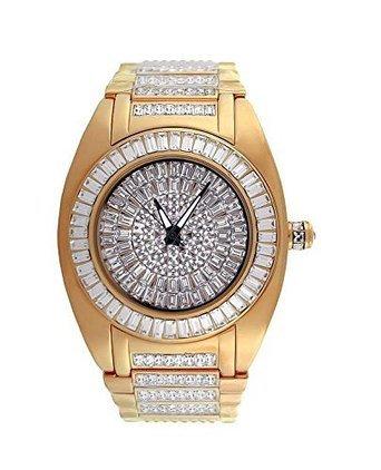 Herren Baguette Lab Diamanten Ap Style Rose Gold Finish New Amazon