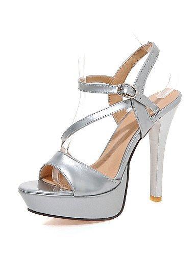 ShangYi Women's Shoes Stiletto Heels/Platform/Sling back/Open Toe Sandals Party & Evening/Dress Black/Red/White golden me5fwZIC