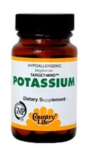Pays Minéraux vie de potassium cibles, 90 comprimés