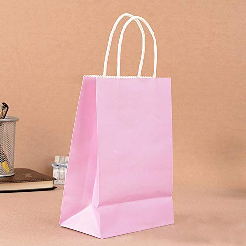 Haga Party Bag Paper Bag with Handles Sweet Color for Halloween Wedding Birthday Party Jewelry Festival Gifts Candy Paper Bags Purple 21x15x8cm -