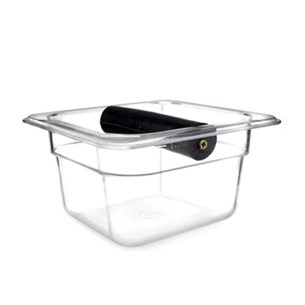 Serendipity Coffee Knock Box, Barista Style Sturdy Shock-Absorbent Knockbox, Polycarbonate, Clear (Small)