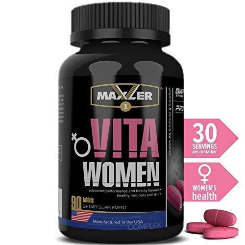VitaWomen Premium Sport MultiVitamin for Women | Vitamins A C D E K & Vitamin B Complex, Omega-3, Biotin, Antioxidant, Enzyme & Digestive Aid (90)