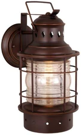 Vaxcel One Light Outdoor Wall Light OW37081BBZ One Light Outdoor Wall Light