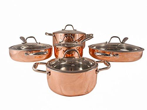 Fancy Cook 5-ply Copper 10 Piece Cookware Set