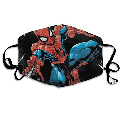 VAbBUQBWUQ Stan Lee Personajes Spider Man Anti Dust Half Face Mouth Cover Respirator Dustproof Anti-Bacterial Washable Reusable Comfy Germ Wind Protective Breath Windproof Mask -