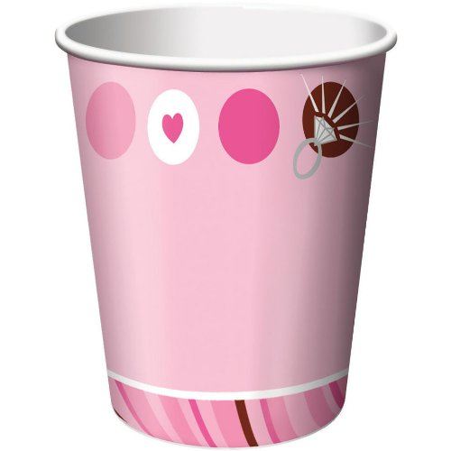 UPC 073525705156, Creative Converting Bridal Shower 8 Count Paper Cups, 9-Ounce, Bride to be Dots