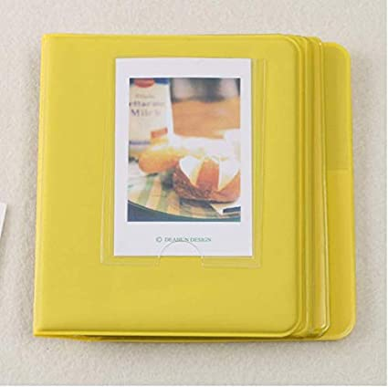 Album Photo Photographie Image 64Pochettes pour Polaroid Fuji Film Instax  Mini Film Jaune dee68a35abc4