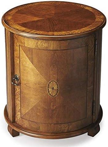 BUTLER LAWRIE OLIVE ASH BURL DRUM TABLE