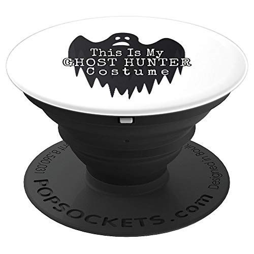 Ghost Hunter Costume Halloween Paranormal Investigator Gift - PopSockets Grip and Stand for Phones and Tablets -