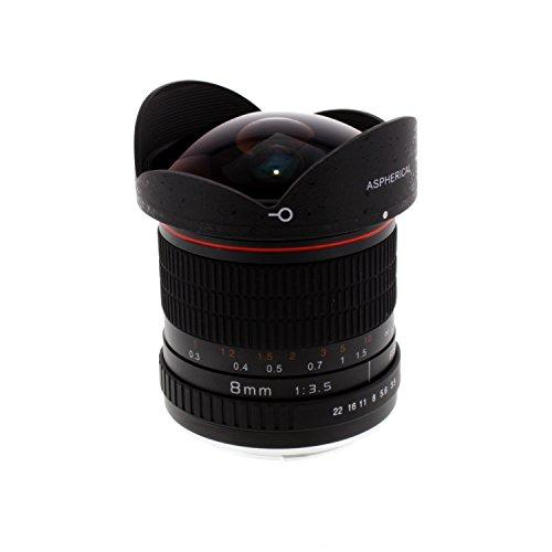 Albinar 8mm f/3.5 HD Aspherical Fisheye Lens for Canon EO...