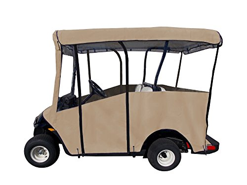 "Golf Cart Cover – Premium Extended Roof Drivable 4-Sided Cart Cover w/ 80"" x 48"
