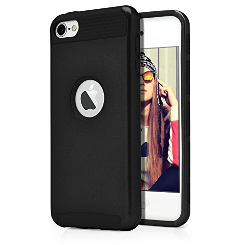 iPod Touch 6th Case, MagicMobile Hard Shockproof Rubber Case for Apple iPod Touch 6 Gen Dual Layer Slim Armor Impact...