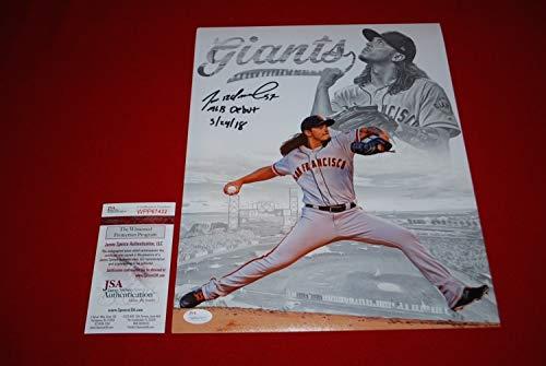 Dereck Rodriguez San Francisco Giants Autographed Signed 11x14 Photo - JSA Authentic Memorabilia Witnessed Coa 1 ()