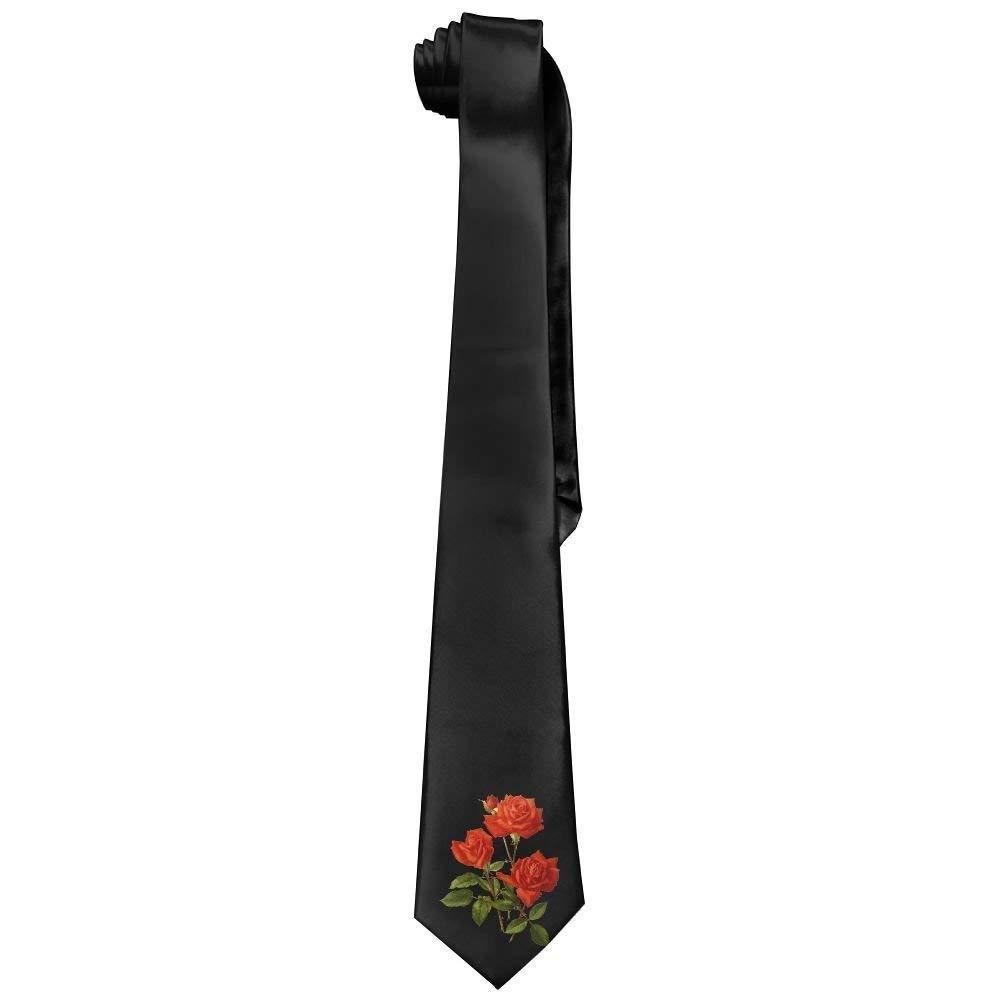 Three Beauty - Corbata de algodón para hombre, diseño de rosa roja ...