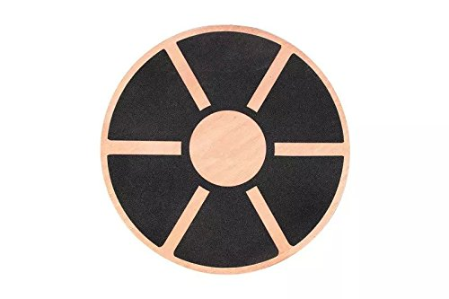 Goliton® Wooden balance board fitness workout training rehabilitation balance board - Black OUT.W04.SPO.BBD.XXB
