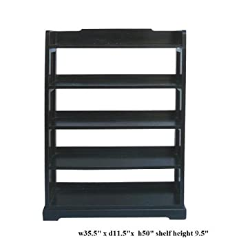 Black Lacquer Simple 5 Shelves Display Bookcase Ass939