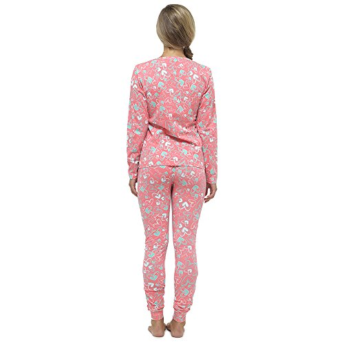 Mujer Estampado Entero Jersey Leggings Set Pijama Coral