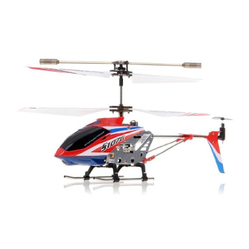 A Set of 2 Brand New Genuine Syma S107G 3 Channels Mini Indoor Co-axial Metal Body Frame & Built-in Gyroscope Rc Remote Controlled Helicopters (1) Special Edition American Flag Colors Theme and (1) Yellow Color with 2 AC Chargers