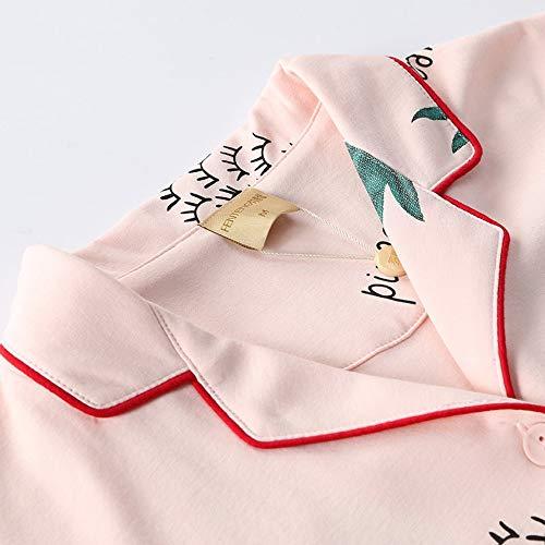 Mujeres Puede L Camisón Traje Baujuxing Servicio A S Domicilio Manga De Fuera Piña Pijamas Usarse Larga 100 Algodón Del Rqw58Ww1