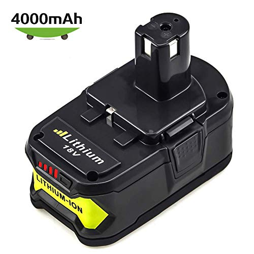 (P108 4.0Ah High Capacity Replacement for Ryobi 18V Battery Lithium ONE+ PLUS P100 P102 P103 P104 P105 P107 Cordless Power Tools )