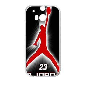 HTC One M8 Cell Phone Case Michael Jordan Logo Case Cover PP8P299284