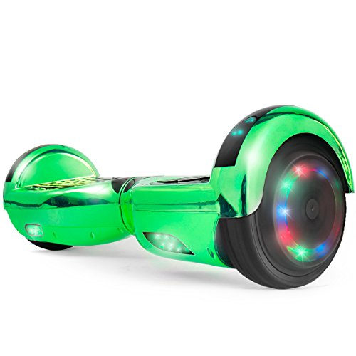 Self Balancing Scooter Hoverboard UL2272 Certified, Bluetooth Speaker and LED Light (Green) by XtremepowerUS