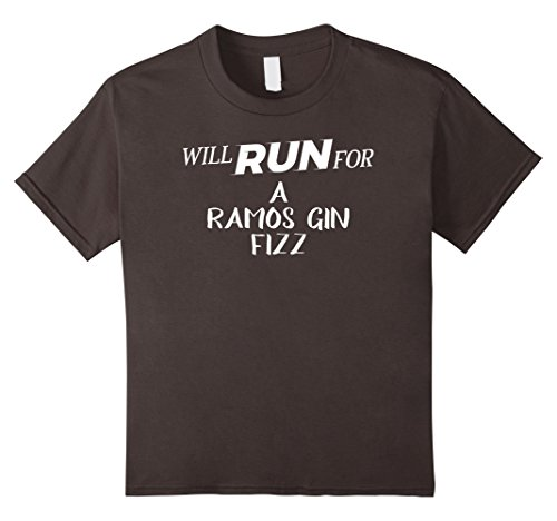 Kids Will Run for A Ramos Gin Fizz - Funny Drinking T-Shirt for R 10 Asphalt