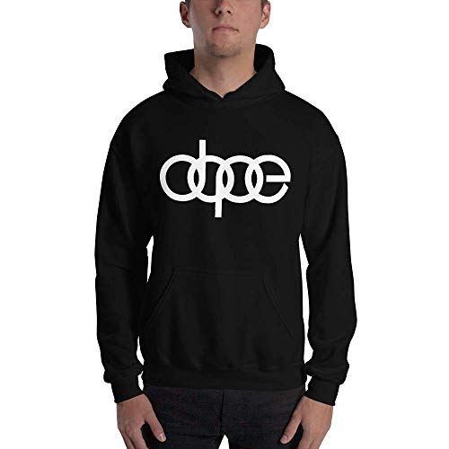 Comrie Graphics Dope Audi Logo Hoodie Sweatshirt for A3 A4 A5 A6 A8 Allroad S4 S5 S6 S7 RS 3 4 5 7 TT R8 Q3 Q5 SQ5 Q7 Car SUV (White, Large)