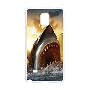 Samsung Galaxy Note 4 Cell Phone Case White Ocean Shark Sharp Mouth Painting OJ581932