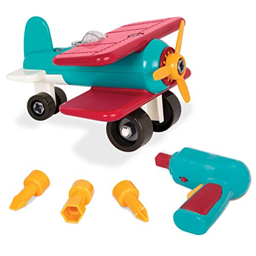 Battat - Take-Apart Airplane - Colorful Take-Apart Toy Airplane for Kids Aged 3 and Up (25pc)