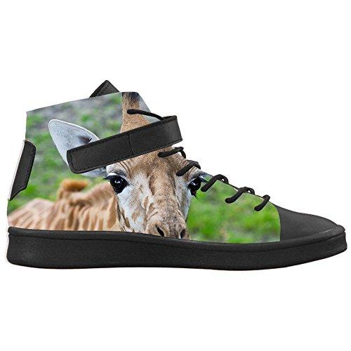 Toe E Round Alte Giraffa Traspirante Animali Nero Caviglia Selvatici Design Personalizzato Con Lyra Cheese Colletto Di Sneakers Uomo Scarpe Da Alla 68nIqXH