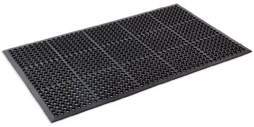 Kempf Anti- Fatigue Drainage Rubber Mat 3' X 5'