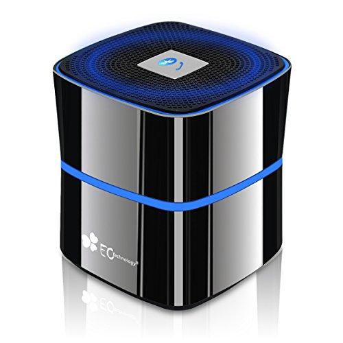 EC Technology Enhanced BASS+ Bluetooth 4.0 Speaker, 8-12 Hour Playtime with Zinc Alloy Shell- Titanium Gray