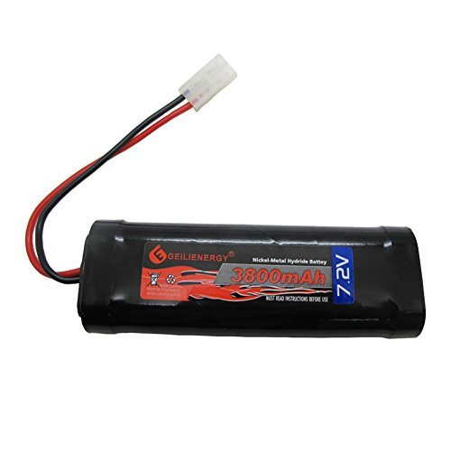 GEILIENERGY 7.2V 3800mAh High Power Rechargeable NiMH Battery Pack Low-self Discharge for RC Cars,Electric Rc Monster Trucks,Traxxas With Tamiya Connector
