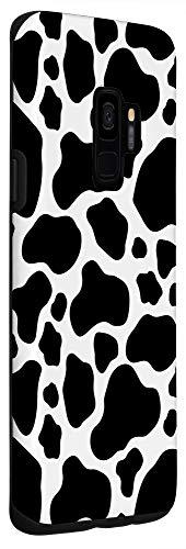 Galaxy S9 Case, Fun Black and White Cow Phone Case - Cow Print Phone Case