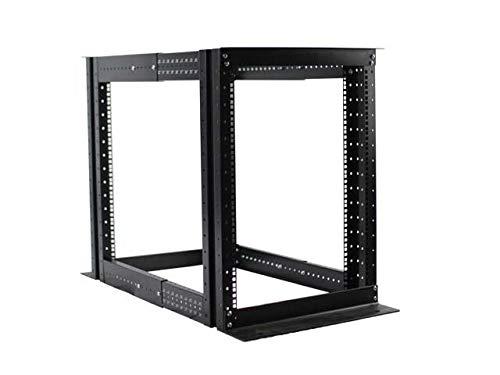 15U 4 Post Open Frame Server Rack Enclosure 19'' Adjustable Depth