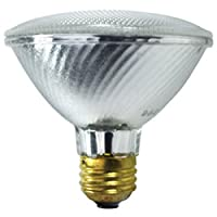 Satoc S2235 39 Watt (50 Watt) 530 Lumens PAR30 Short Neck Halogen Wide Flood 50 Degrees Clear Light Bulb, Dimmable