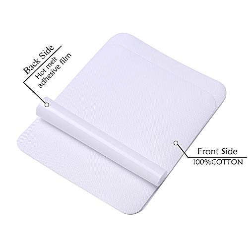 4.9inX3.7in 12pieces White Denim -Iron on Patches for Clothing Repair, Denim Patches for Jeans Kit,Iron for Inside Jeans & Clothing Repair