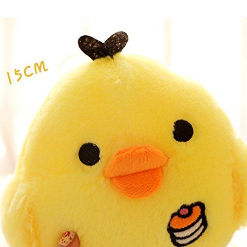 elegantstunning Little Yellow Chicken Plush Toy, Cute Plush Toy Pillow, Nostril Chick Doll, Creative Girl Gift 15CM