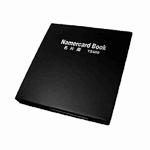 Magentoo(TM) Black Leather Fashion Business Name Card Holder Book 480
