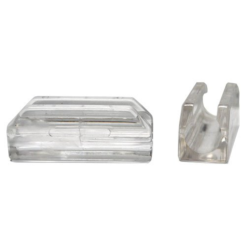 Sled Base Chair Glide For 7/16'' Diameter Tubing. Clear Lexan. 100 piece pack. by Shiffler Equipment Sales, Inc.