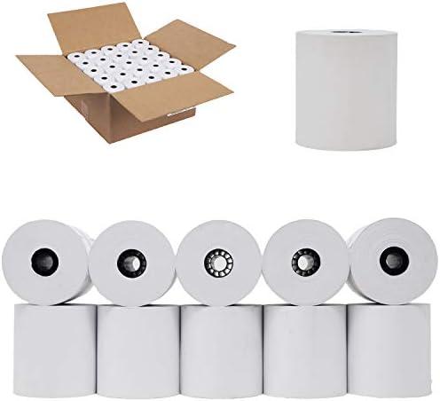 "PurchaseRegisterRolls 1-Ply 3"" x 165' Bond 50 Rolls Receipt Paper POS Cash Register Impact, SP700, tmt-u220b Kitchen Printer Paper"