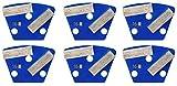 Double Bar Grinding/Polishing Trapezoids, Soft Bond - 12mm Segments, 16 Diamond Grit - 6 Pack