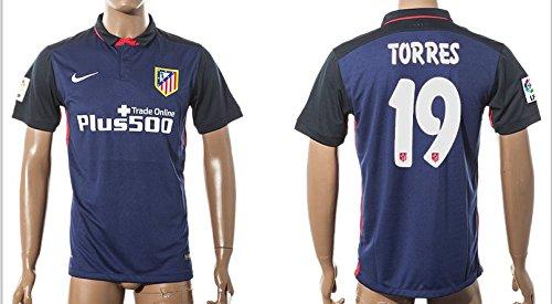 15/16 Atlético de Madrid Trikot 19 Torres Jersey Mens Soccer Shirt ...