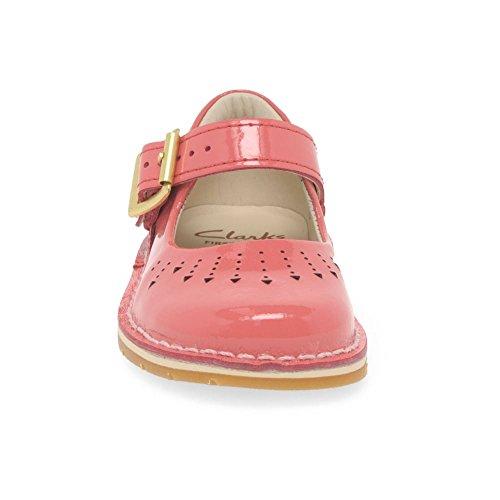 Clarks Yarn Jump, Mädchen Schnürhalbschuhe Pink Rose