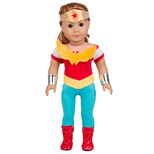 Dress Along Dolly Wonder Woman Inspired Doll Outfit