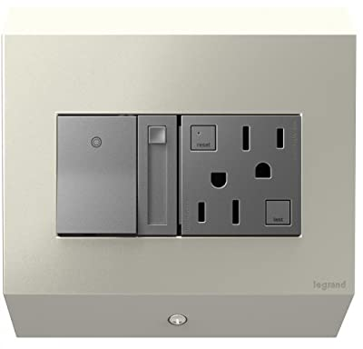 adorne Control Box with Paddle Dimmer and Outlet