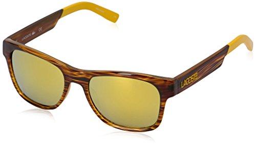 Lacoste Unisex L829S Rectangular Sunglasses, Brown, 54 - Lacoste Unisex Sunglasses