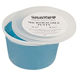 Cando Massage Fitness Equipment Microwavable Theraputty Exercise Material 1 Lb - Blue - Firm